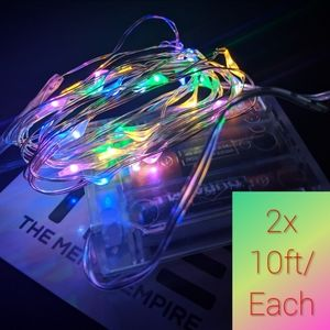 2x Multicolored String Fairy Lights